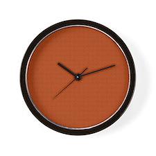 orange pattern Wall Clock