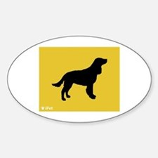 Spaniel iPet Oval Decal