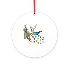 polka dots Round Ornament