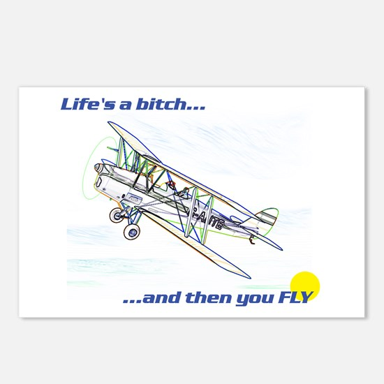 Fly! Tiger Moth. Postcards (Package of 8)