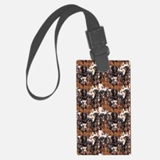 dachshunds and paw prints Luggage Tag