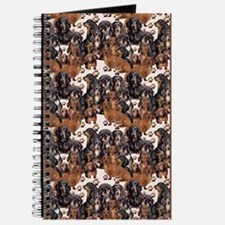 dachshunds and paw prints Journal