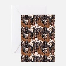 dachshunds and paw prints Greeting Card