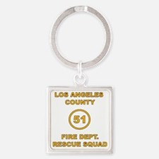 LA County 51 Square Keychain