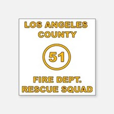 "LA County 51 Square Sticker 3"" x 3"""