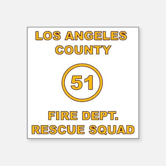 """LA County 51 Square Sticker 3"""" x 3"""""""