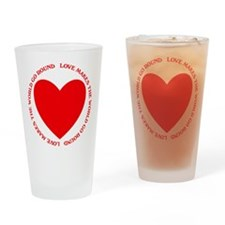 Love Makes the World Go Round Drinking Glass