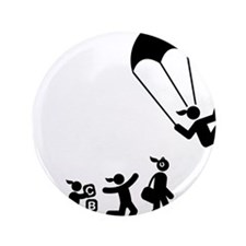 "Parachuting-AAI1 3.5"" Button"