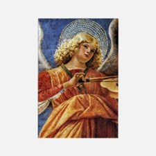 Melozzo Music Making Angel Rectangle Magnet