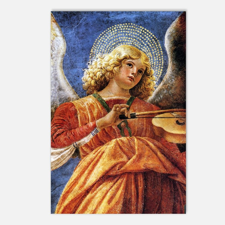 Melozzo Music Making Ange Postcards (Package of 8)