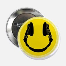 "Headphone Smilie 2.25"" Button"