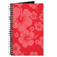 Red Hibiscus Hawaii Print Journal