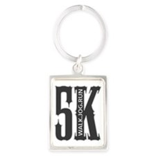 5K Walk Jog Run 01 Portrait Keychain