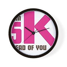 5K Ahead Of You Wall Clock
