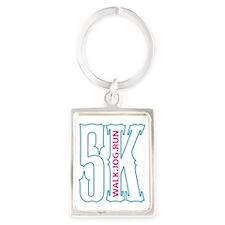 5K WALK JOG RUN c Portrait Keychain
