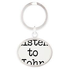 Listen to John Oval Keychain
