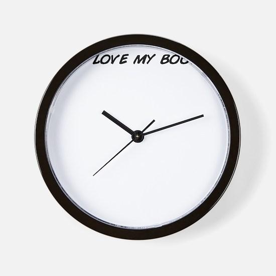 I love my boo! Wall Clock