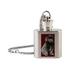 brocaded newfy Flask Necklace