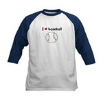 LOVE BASEBALL Kids Boy's or Girl's Baseball Jersey