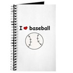 I HEART LOVE BASEBALL Journal
