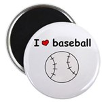 I HEART LOVE BASEBALL Magnet