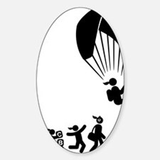 Paragliding-AAI1 Sticker (Oval)