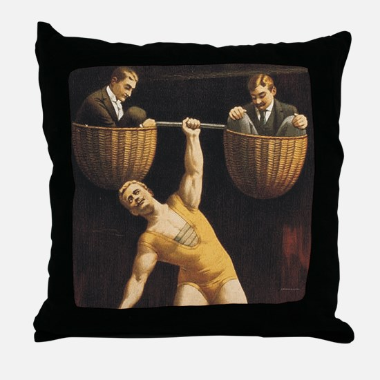 Weightlifting Old School Throw Pillow