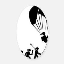 Paragliding-AAH1 Oval Car Magnet