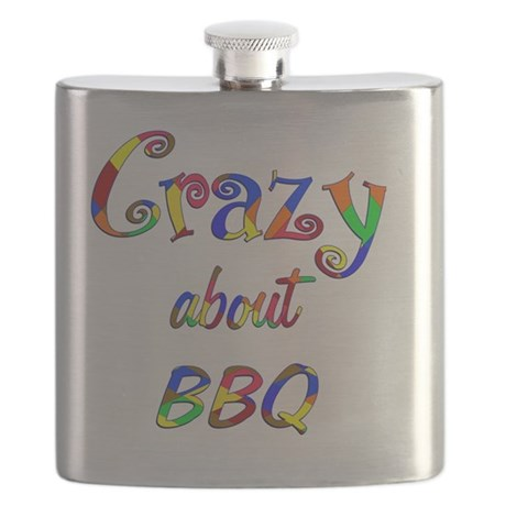 Crazy About BBQ Flask