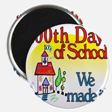 100th Day Schoolhouse Magnet