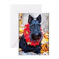 Hawaiian Scottie Dog Greeting Card