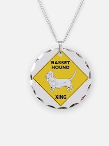 Basset Hound Crossi... Necklace