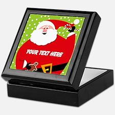 Personalized Round Santa Keepsake Box