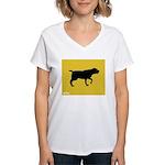 Blackmouth Cur iPet Women's V-Neck T-Shirt