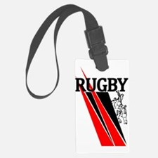 Rugby Line Out Red Black Luggage Tag