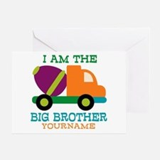 Cement Mixer Big Brother Greeting Card