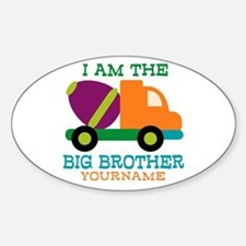 Cement Mixer Big Brother Sticker (Oval)