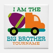 Cement Mixer Big Brother Tile Coaster