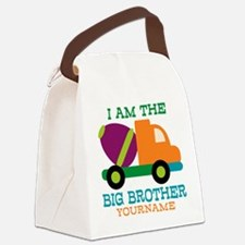 Cement Mixer Big Brother Canvas Lunch Bag