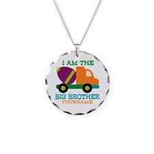 Cement Mixer Big Brother Necklace