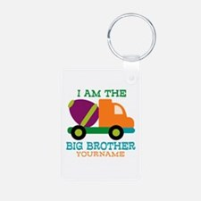 Cement Mixer Big Brother Aluminum Photo Keychain