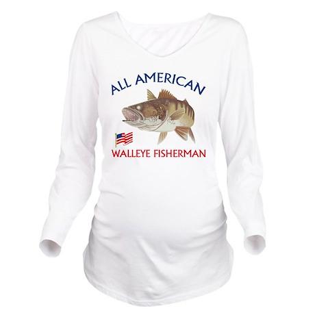 All american Walleye Long Sleeve Maternity T-Shirt