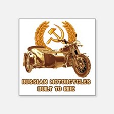 """Russian motorcycles built t Square Sticker 3"""" x 3"""""""