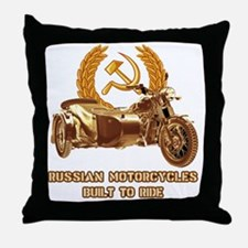 Russian motorcycles built to ride Throw Pillow