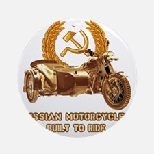 Russian motorcycles built to ride Round Ornament