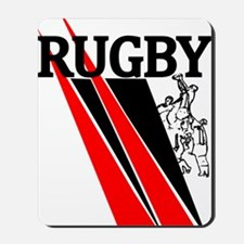 Rugby Line Out Red Black Mousepad