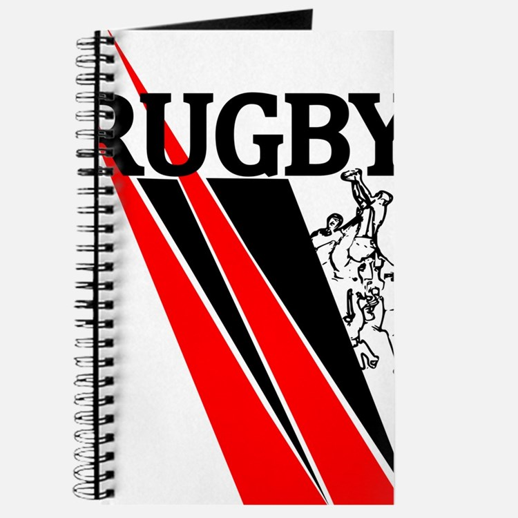 Rugby Line Out Red Black Journal