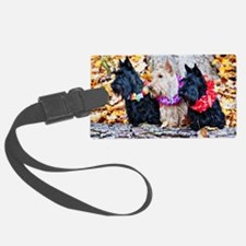 Scotties in Autumn v3 Luggage Tag