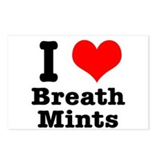 I Heart (Love) Breath Mints Postcards (Package of