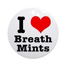 I Heart (Love) Breath Mints Ornament (Round)